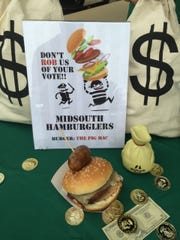 This boudin burger cooked by the Mid South Bank team was named the winner of the Spirit Award.