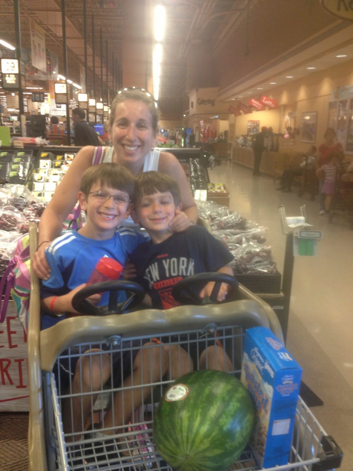 Grocery shopping was daunting, but she soon got the hang of Wegmans.