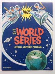 The program from the 1965 World Series between the