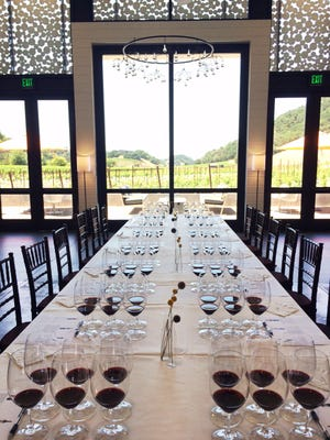 The scene at a West Coast tasting attended by writer John Fanning.