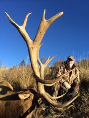 Leon Bernard of Great Falls shot this bull elk in the Blackfoot Mountains of Idaho.