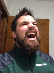 Marcus Calverley, with his hair and beard