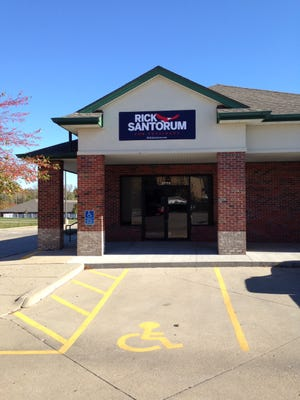 Scott Walker was the first GOP presidential candidate to open an Iowa office in the 2016 race. Walker dropped out in September, and rival Rick Santorum moved into Walker's Urbandale space Oct. 15.