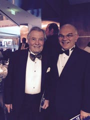 Celebrity chef Jacques Pepin and EdgeCraft Corp. president Sam Weiner pose for an Oct. 22, 2015 photo, at the Smithsonian's National Museum of American History's inaugural Food History Gala. Pépin received the first Julia Child Award by the Julia Child Foundation for Gastronomy and the Culinary Arts. Pepin has long been a fan of EdgeCraft Corp.'s Chef'sChoice knife sharpeners and mentioned how much he likes the sharpeners in his most recent cookbook.