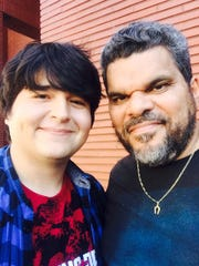 "Lincoln Castellanos on left poses with Luis Guzman of ""Code Black."" a CBS medical drama."
