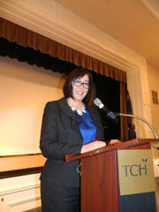 Nichole Pardo with the Race Relations & Diversity Task Force served as the moderator for Monday's MLK discussion.