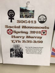Harry Murray may miss his Social Movements class if