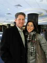 Rick John and wife Dr. Angela Cush-John at Washington Mardi Gras.