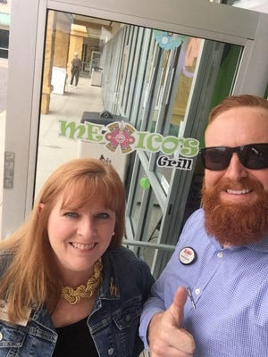 Suzy Fleming Leonard and Shane Burgman enjoyed great tacos and great conversation when they got together at Mexico's Grill in Cocoa Beach.