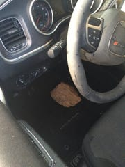The Sheriff's Office says this rock was placed on the