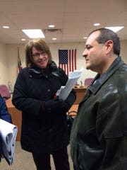 Diane Jirtle, Plan Vommission member, and Brian Vogeltanz,