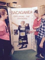 One student created a presentation about Sacagawea for the D.C. Everest Junior High History Day.
