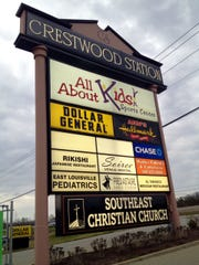 Southeast Christian Church, listed on the Crestwood Station shopping center sign, owns half of the shopping center where the church is located off Hwy. 146/La Grange Road.