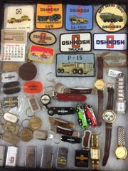 Oshkosh Corp. memorabilia was on display at the Oshkosh