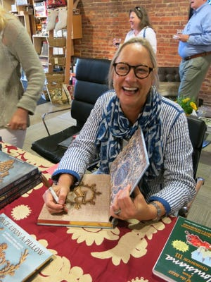 "Book signing honoree Rebecca ""Becky"" Watson Vizard at celebration of  publication of ""Once Upon a Pillow."""