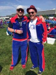 John 'Trick Magic' Snider and Mark 'Air Pork' Daniels sip Mint Juleps at the track.