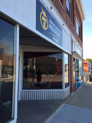 Conservative group Americans for Prosperity has opened a storefront at 703 N. Main St.