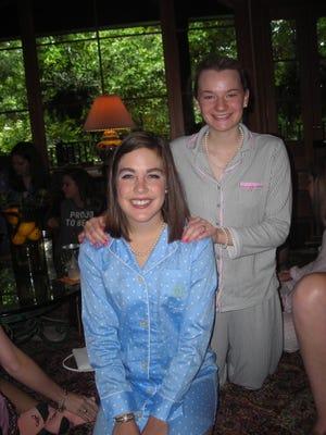 Honoree/Demoiselle Deb Emily Batte and Elissa Nunnally at Pajamas and Pearls.