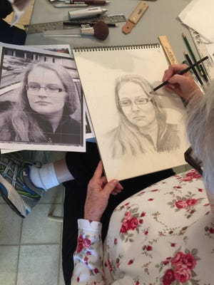 Leila Shuffler gets commissions for portraits from all over the world.