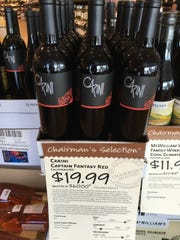 Try a bottle of the multi-faceted Carini Captain Fantasy Red, which won't stay on the shelves long.