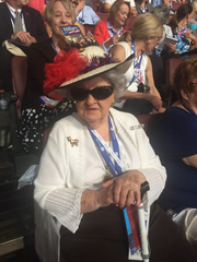 Ruby Gilliam takes in the convention wearing her specially