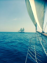 The Tall Ship Pride of Baltimore II, as seen from the