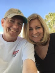Rob and JoNell Modys on Clearwater Beach in 2016.