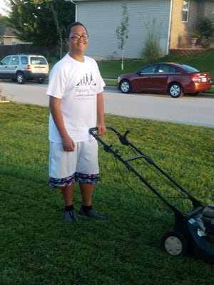 Christian Campbell is mowing yards at no charge for single moms, the elderly and disabled.