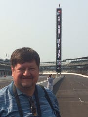 Stones fan Jim Pietryga before a concert at the Indianapolis Speedway.