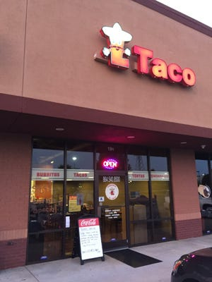 El Taco in Anderson just opened last month.