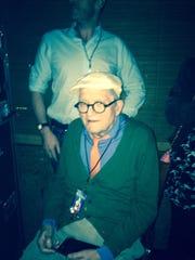British artist David Hockney was seen attending Paul