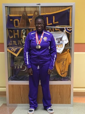 Fort Pierce Central High School ninth-grader Leah Scheible won the gold medal in the 100-meter freestyle and the silver medal in the 200-meter freestyle at the recent Special Olympics State Aquatics Championship.