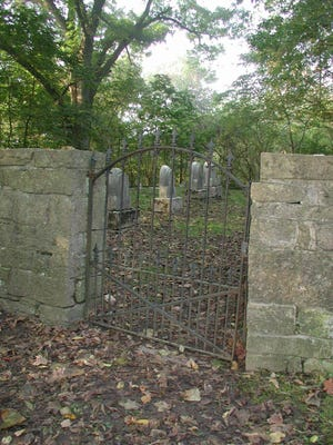 Graveyard where many Dinsmore family members are buried on site.