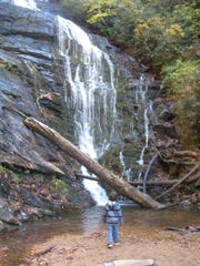 Waterfalls comes in all shapes and sizes along Burrells Ford.