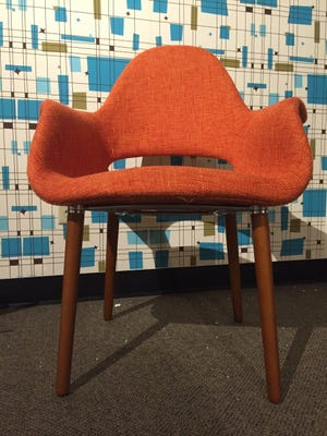 This sleek chair is part of the new exhibit at the Michigan History Museum.