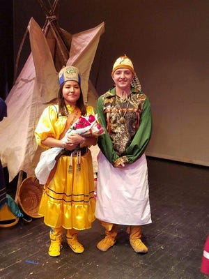 Ruidoso High School sophomores Mark Graves and Jolee Chavez are named Indian Club Brave and Princess Nov. 4.