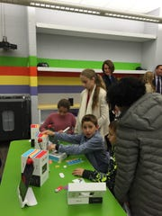 Youngsters get a feel of the new STEM labs.