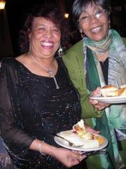 Pearl Robinson, Sonja Chenier at High Tea Bridal Shower.