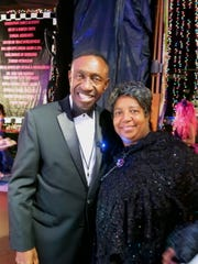 McDonald Chief Roy Griggs and wife  Nelva Griggs at Christmas in the Sky.