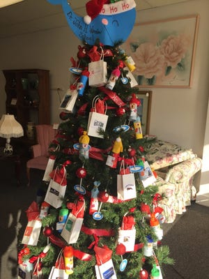 The tree created by Andrea Amos with Sign Language Club from  Dr. John H. Winslow Elementary School and displayed at The Spot, 618 E. Landis Ave., Vineland, placed first in Main Street Vineland's Holiday Tree Competition.