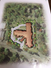 Overhead view of an assisted living project proposed in Franklin Lakes.