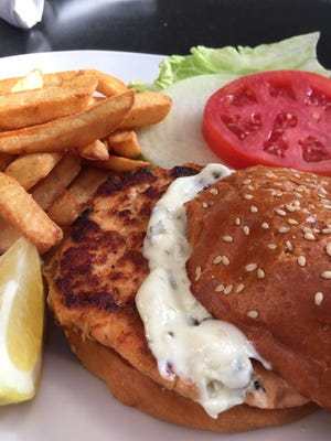 The Salmon Burger is part of the new menu at Stage Deli Fine Foods.