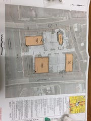 Monarch Enterprises architectural drawing of a shopping
