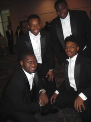 Beaux at the Beautillion:Johnny J. Rice (clockwise