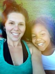 """Amber Caudell, in an undated photo with her daughter, Alexandrea """"Sissy"""" Thompson, 9. Sissy was shot and killed January 18, 2017.  Her father was also shot but survived. Photo shot Wednesday February 8, 2017."""