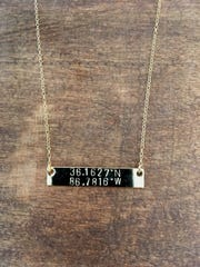 Have this delicate bar necklace inscribed with anything you wish for a total price of $32 and a choice of 3 metals.