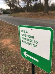Signs along the Doodle Trail keep you on schedule.