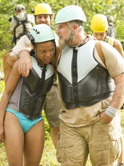 "Knoxville native Nakeisha Turk and her survivalist partner John in Fox's new reality show ""Kicking and Screaming."""