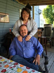 Dana and Mike Sweitzer today, at their home in Manchester.