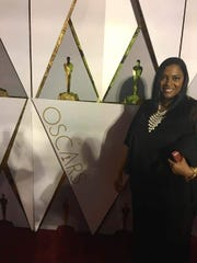 """Jina DuVernay at The Oscars when the documentary """"13th,"""" which her sister Ava directed, was up for an award."""